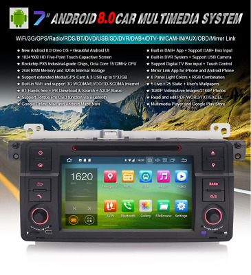 "Radio Dvd 7"" Bmw Serie 3 E46 M3 Z3 Android 8.0 , Gps, Bluetooth"