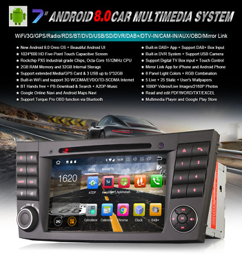 """Radio Dvd 7"""" Mercedes Benz Serie E G Cls Android 8.0 Gps 4Gb Gps-Bluetooth Wifi"""