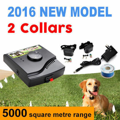 Waterproof Rechargeable Invisible 2 dog Electric Fence System Pet Containment