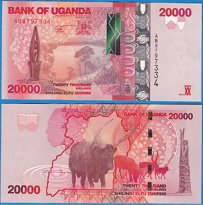 Uganda 2010 20000 shillings P-53 UNC - US-Seller