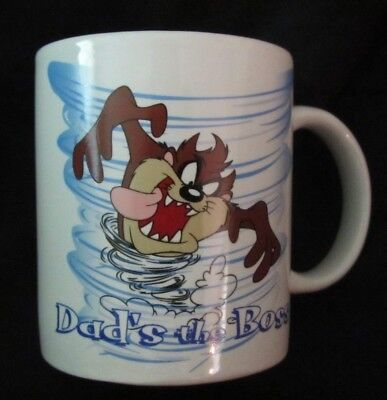 Taz Tazmanian Devil - Mug Cup - Dad's The Boss - Looney Tunes Warner Bros. 1997