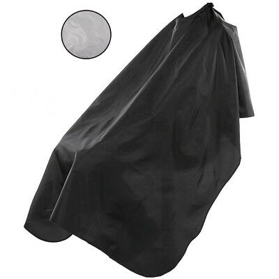 Barbers Hair Cutting Cape Hairdressing Gown Salon Dye Cover Black Grey