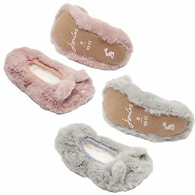 Joules Pippie Novelty Junior Character Faux Fur Warm Cosy Soft Ballet Slipper