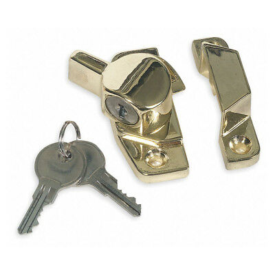 Keyed Window Sash Lock for Sliding Windows - Keyed Differently - Brass Finish