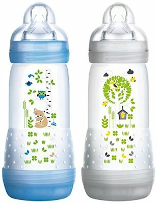 Anti-colic Baby Bottle Set Of 2for Boys With 3flow Rate Teat 320ml B