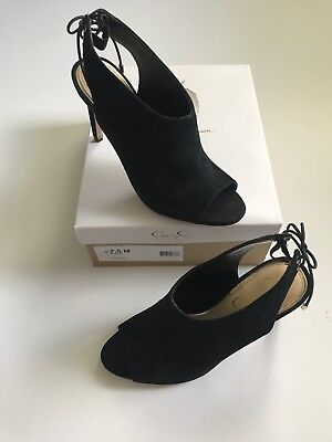 a5afe647ebbd Jessica Simpson Women s 7.5 Black Suede Open Toe Classic Pumps Brand New   120