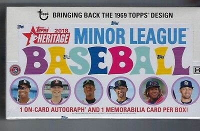 2018 Topps Heritage Minor League factory sealed hobby box