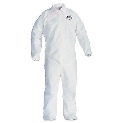 25pc KLEENGUARD 44314 Breathable Particle Protection Coveralls A40 White XL