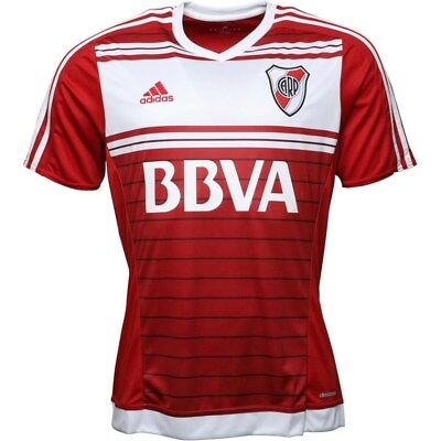 Adidas Men's River Plate 2016/17 Away Football Shirt Top Power Red New Size M,L