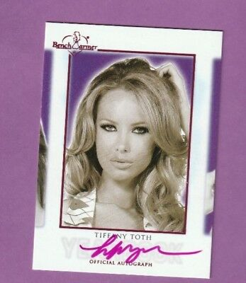 2018 Benchwarmer Hot For Teacher Yearbook Auto Card Tiffany Toth Pink