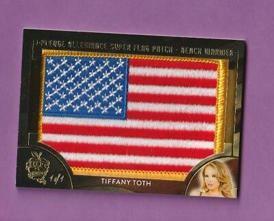 2018 Benchwarmer Hot For Teacher Super Flag Patch 1/1 Tiffany Toth