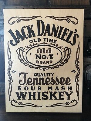 Jack daniels Wood Pyrography Woodburning Art