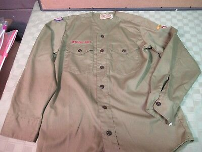 Boy Scout Shirt Vintage Official Scouts BSA Uniform Top Free USA Shipping