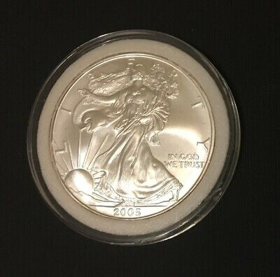 2010 Silver American Eagle (Brilliant Uncirculated) with coin case