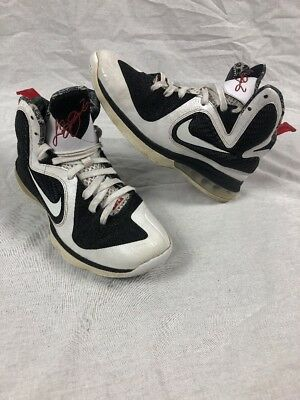 0f0636e4203f Nike LeBron James 9 IX GS Freegums White Black Sport Red Sz 7Y 472664-101