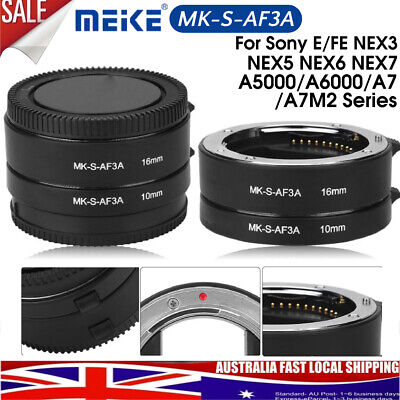 Meike MK-S-AF3A Macro Lens Extension Ring Mount Tube Kit Lens Set for Sony
