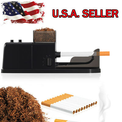 Cigarette Rolling Machine Electric Automatic Injector Maker Tobacco Roller Black