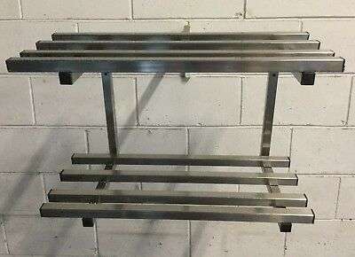 Commercial Kitchen Cafe Bakery Restaurant TWIN Wall shelf Pot Rack 650mm