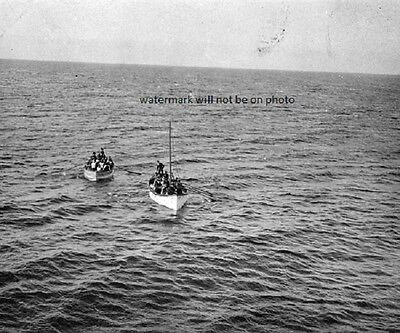 """Photo taken from the Carpathia of life boats from the Titanic 8""""x 10"""" Photo 16"""