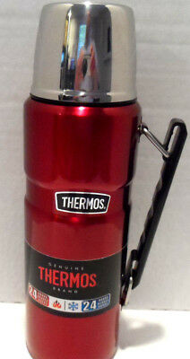 Thermos Stainless Steel King 40 Ounce Beverage Bottle, Cranberry