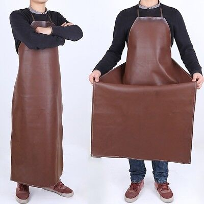 6aa90658c0 Waterproof Apron Oil-resistant Leather Welding Long Coat Protective  Clothing Bib