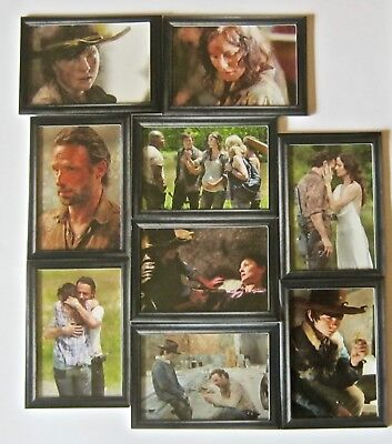 The Walking Dead SHADOW BOX CARDS COMPLETE SET 9 Cards