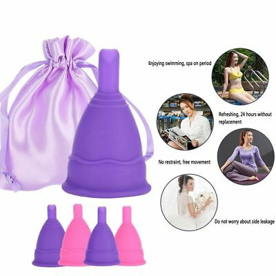 Female Reusable Silicone Menstrual Cup Period Soft Medical Cups Safety Cup HL