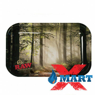 RAW FOREST Cigarette Tobacco Metal MEDIUM Rolling Tray 7x11