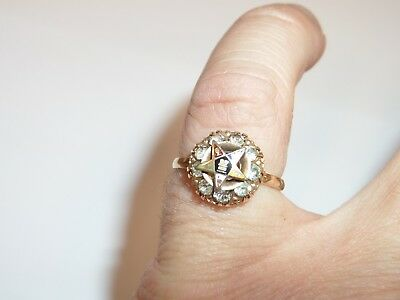 Vintage Gold Filled Eastern Star Masonic Ring Clark & Coombs Size 7 1.95 Grams