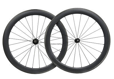 38mm Carbon wheelset matt rim 700C Road bicycle Tubeless Novatec Clincher Cycle