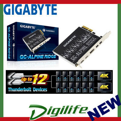 Gigabyte Alpine Ridge V2 Dual Thunderbolt 3 Card for H270 Z270 Z370 X299 Series