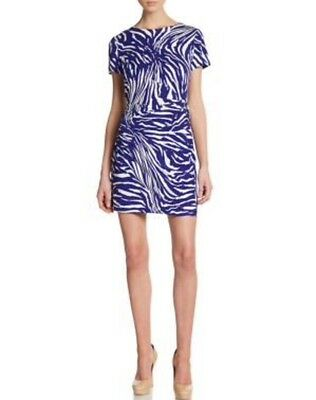 673a567f4cbb Diane Von Furstenberg 560$ Dress Wrap Blue DVF S M 10 Designer Zoe Tiger  Shadow