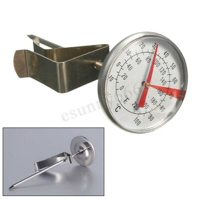 -10-100℃ Clip On Metal Dial Thermometer Gauge For Candle Soap Jam Coffee Making