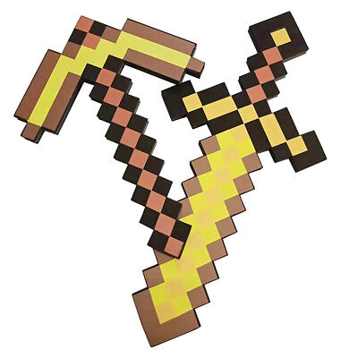 Minecraft 2-in-1 Sword & Pickaxe Dual Action Fun Kids Gift Toy Cosplay Gamer