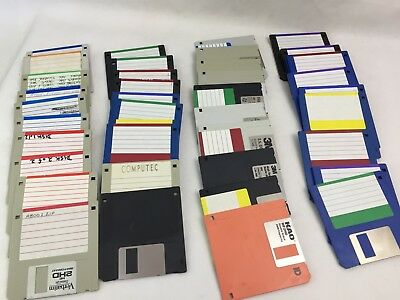 "Assorted Floppy Disks - 3.5"" Inch  - x 20 - Vintage - Old Computer Discs -"
