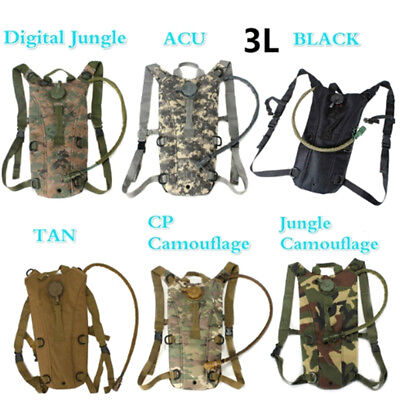 3L hydration system water bag pouch backpack bladder climbing hiking survival DE