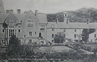 Culag Hotel From The Gardens Lochinver Sutherland Early Pc