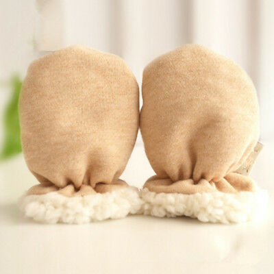 Thicken Newborn Baby Boy Girl Fleece Gloves Infant Warm Mittens Autumn Winter