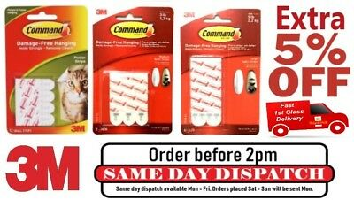 3M Command Replacement Refill Strips Damage Free Wall For Wall Hanging DIY