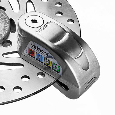 Veison Motorcycle Alarm Anti-theft Brake Disc Rotor Lock Waterproof 120dB Silver