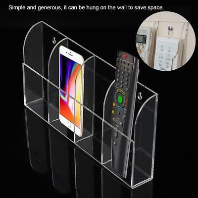 TV Air Conditioner Remote Control Holder 1-4 Case Acrylic Wall Mount Storage Box