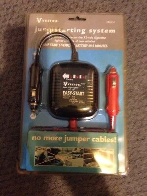Vector Jump Start System #VEC015 No More Jumper Cables New Old Stock