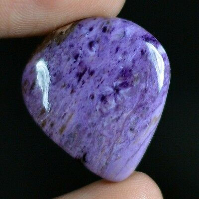 30ct Natural Best Grade Charoite Pear Cab From Russia BZ41