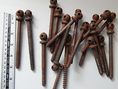 Lot of 19 Antique French Bed Screws,Furniture,Wardrobe,Cabinet,Repair,Furniture
