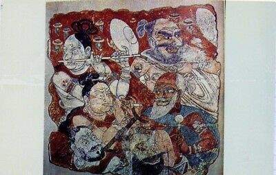 China : Silk Road Tourist : Drawing of Dancers & Musicians