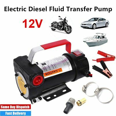 Portable 12V Diesel Fluid Extractor Electric Transfer Pump Car Fuel Oil Kerose