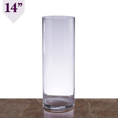 Clear Glass Cylinder Centerpieces Vases Wedding Party Pouches
