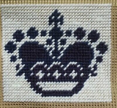 Mini Modern Tapestry: Unique Handmade 'Crown 1' Sampler
