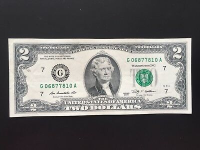 2009 $2 TWO DOLLAR BILL (Chicago ) ,CIRCULATED