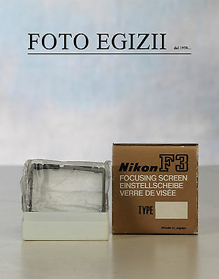 "Nikon Focusing Screen Type ""f"" F F3 Nuovo E Originale Made In Japan"